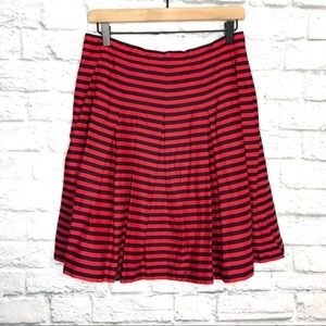 J.Crew Factory Red Blue Striped Skirt